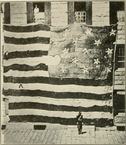 The Star Spangle Flag before being restored.