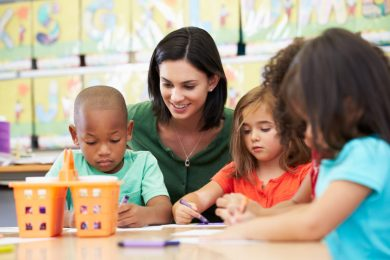Black child at preschool
