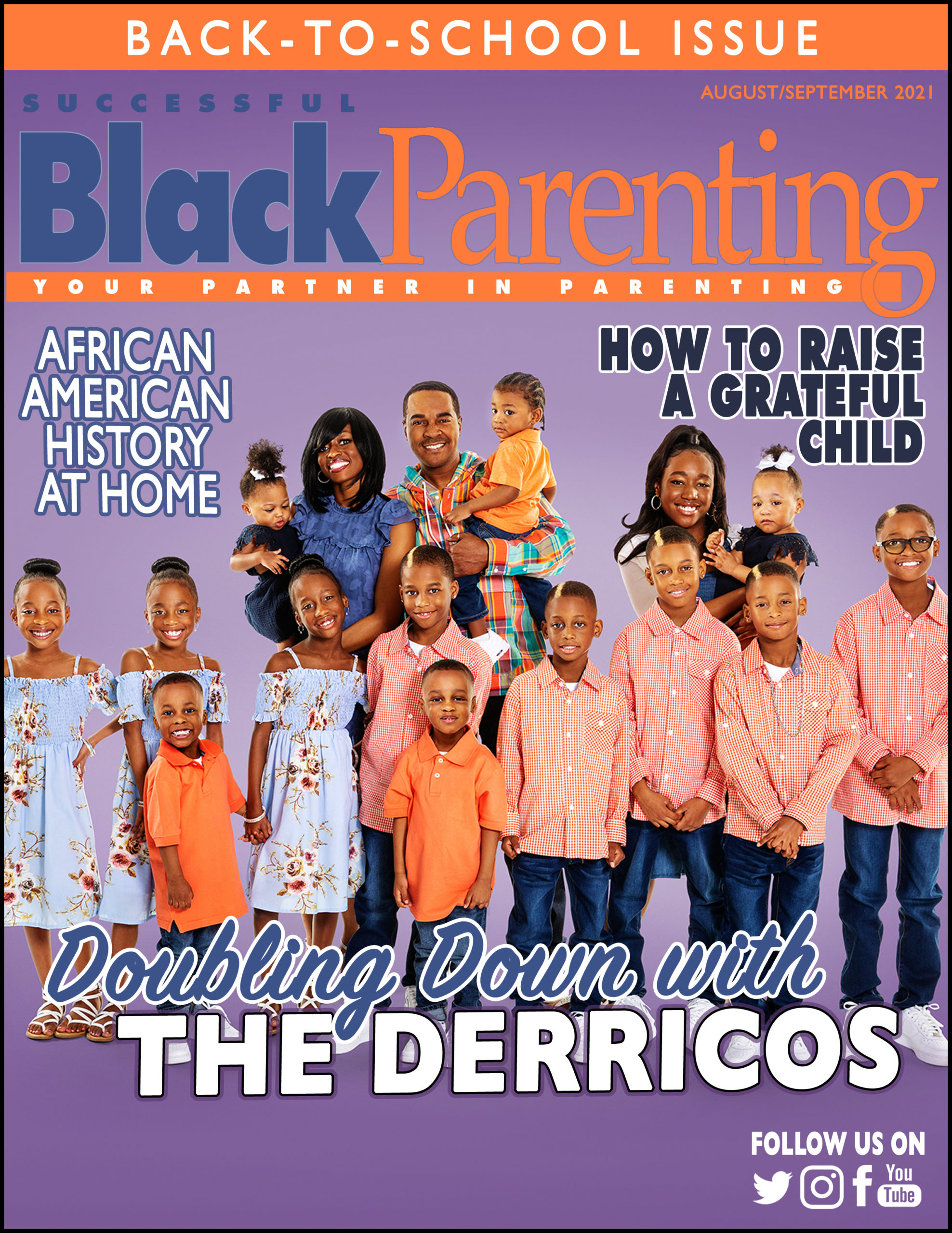 The August September cover for Successful Black Parenting magazine