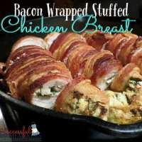 Bacon Wrapped Stuffed Chicken Breast recipe- THM friendly