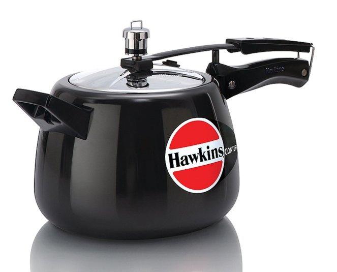 Hawkins Contura Hard Anodized Pressure Cooker (3 Liters):