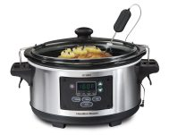 Hamilton Beach 6-Quart Programmable Slow Cooker With Temperature Probe best electric preesure ooker