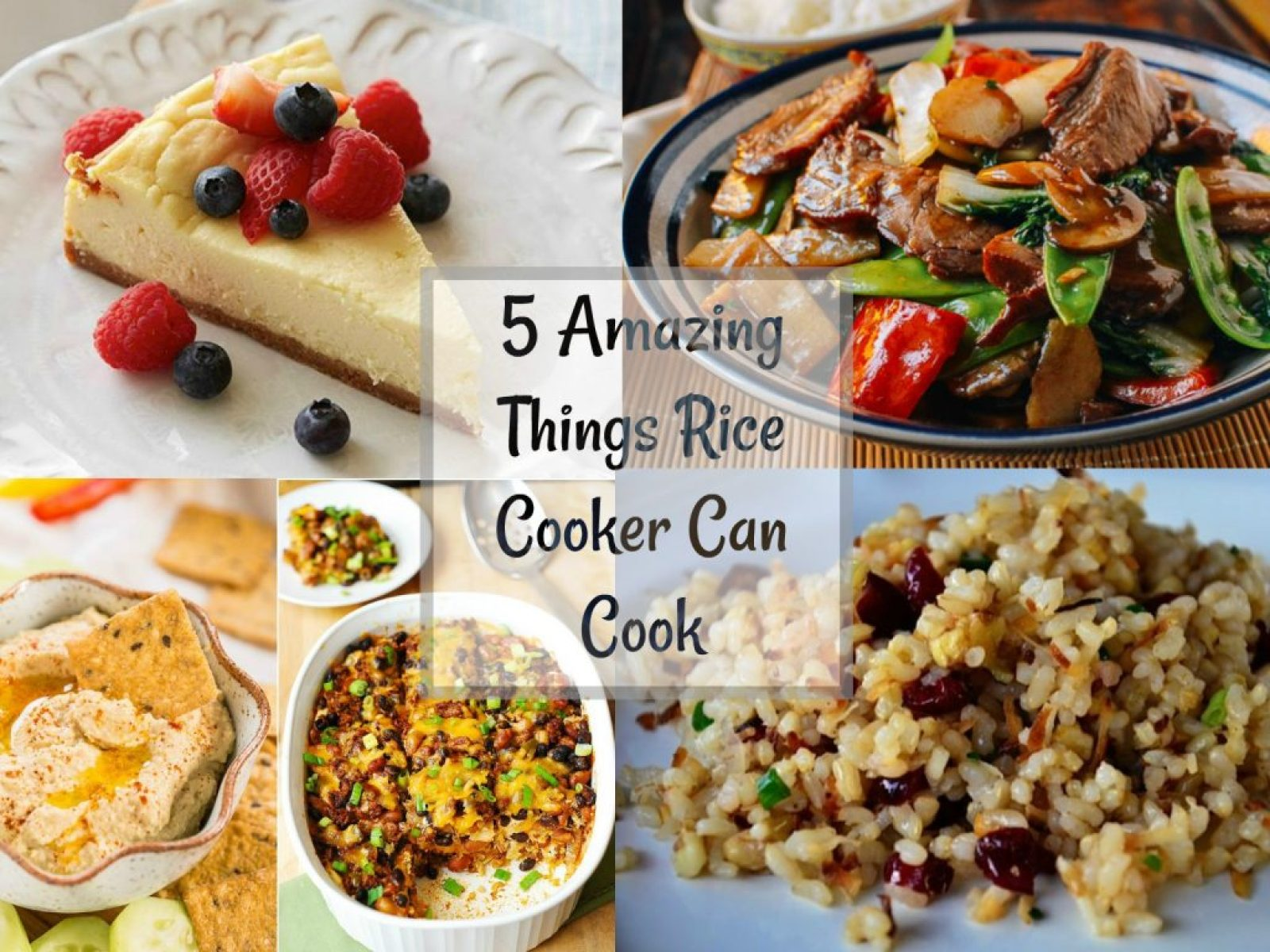 5 Amazing Things Rice Cooker Can Cook