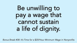 It's Time for a $20/Hour Minimum Wage in Nonprofits