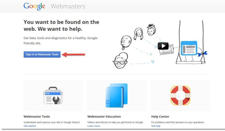 login to google webmasters