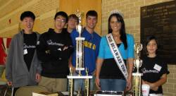 Duel volunteers with Book Drive organizer Vincenza Carrieri-Russo, Miss Delaware USA.
