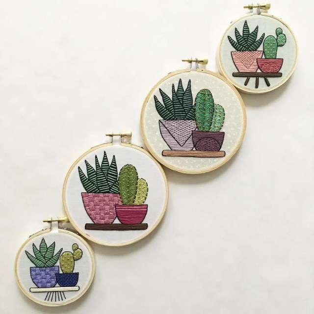 How To Make A Succulent Embroidery Patch With Ease