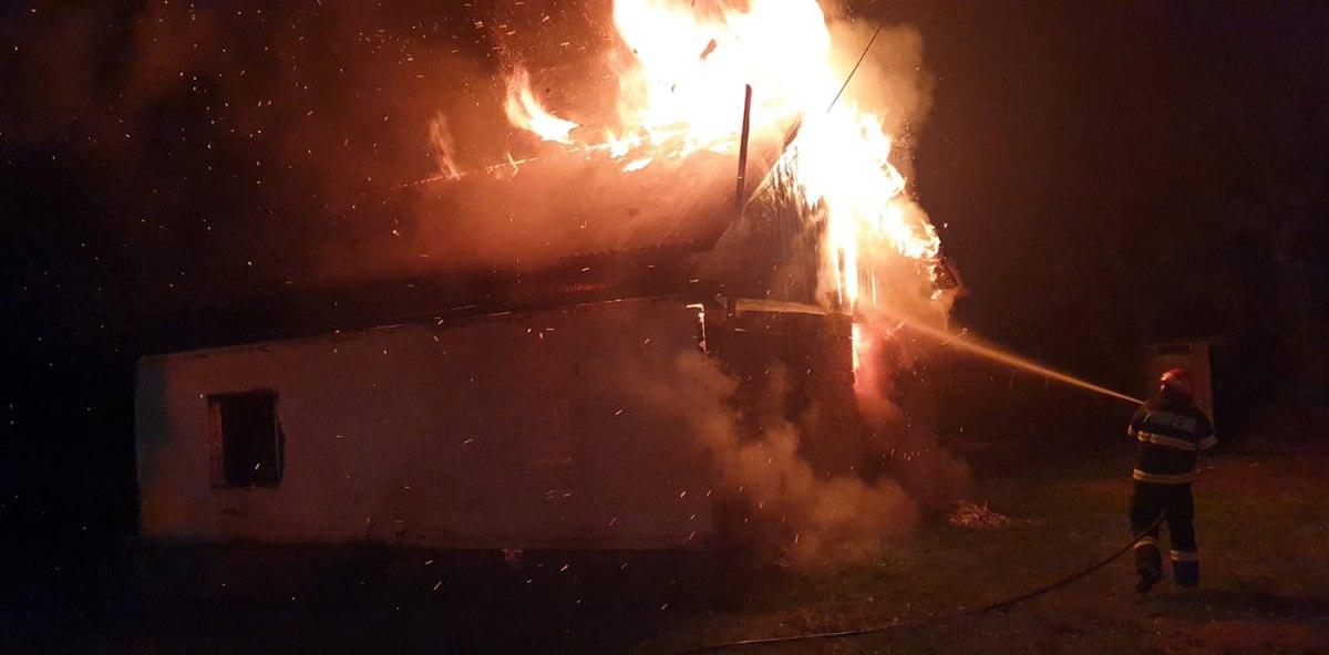 Incendiu la o locuință din municipiul Gura Humorului