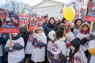 protest familia Bodnariu Suceava 2