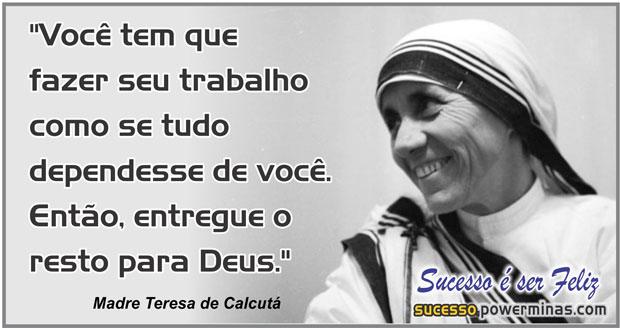 Mensagem Motivacional de madre Teresa de Calcutá