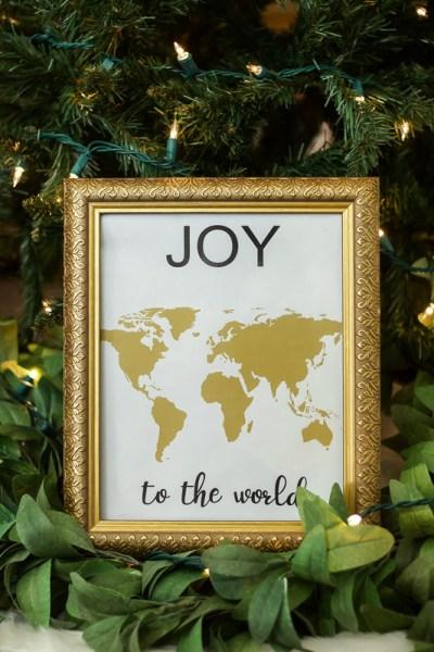 Joy to the World Christmas Wall Print