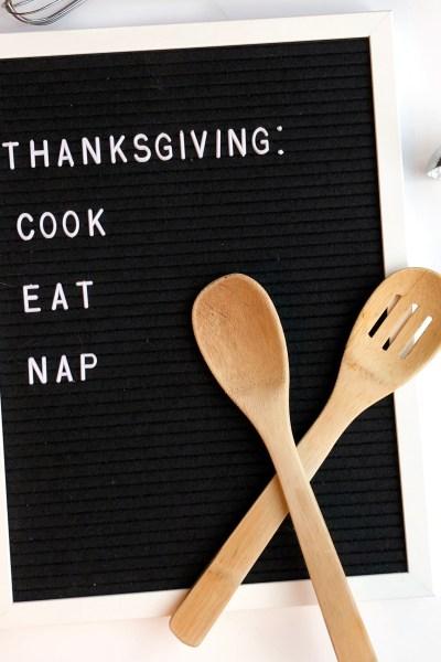 Thanksgiving: cook, eat, nap.