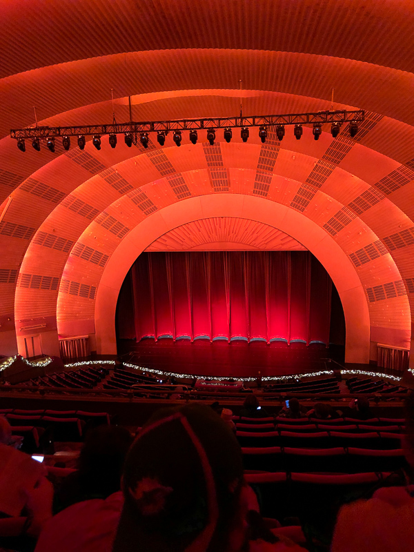 View from the last row of Radio City Music Hall.