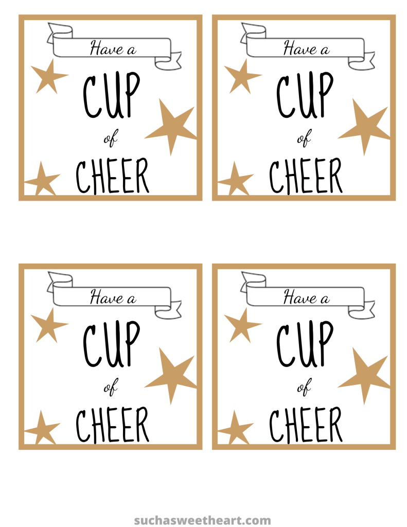 Cup of Cheer Free Printable