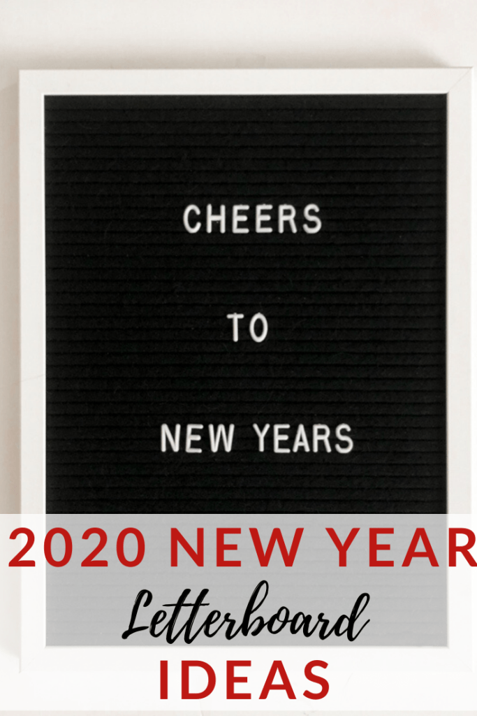 2020 New Year Letterboard Quote Ideas.
