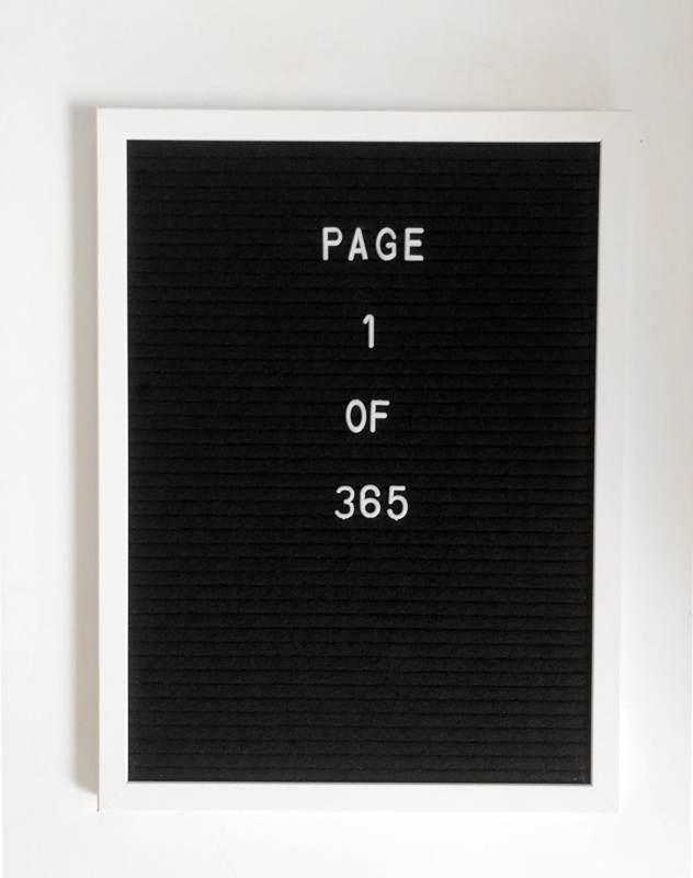 Page 1 of 265. New Year Letterboard Quote