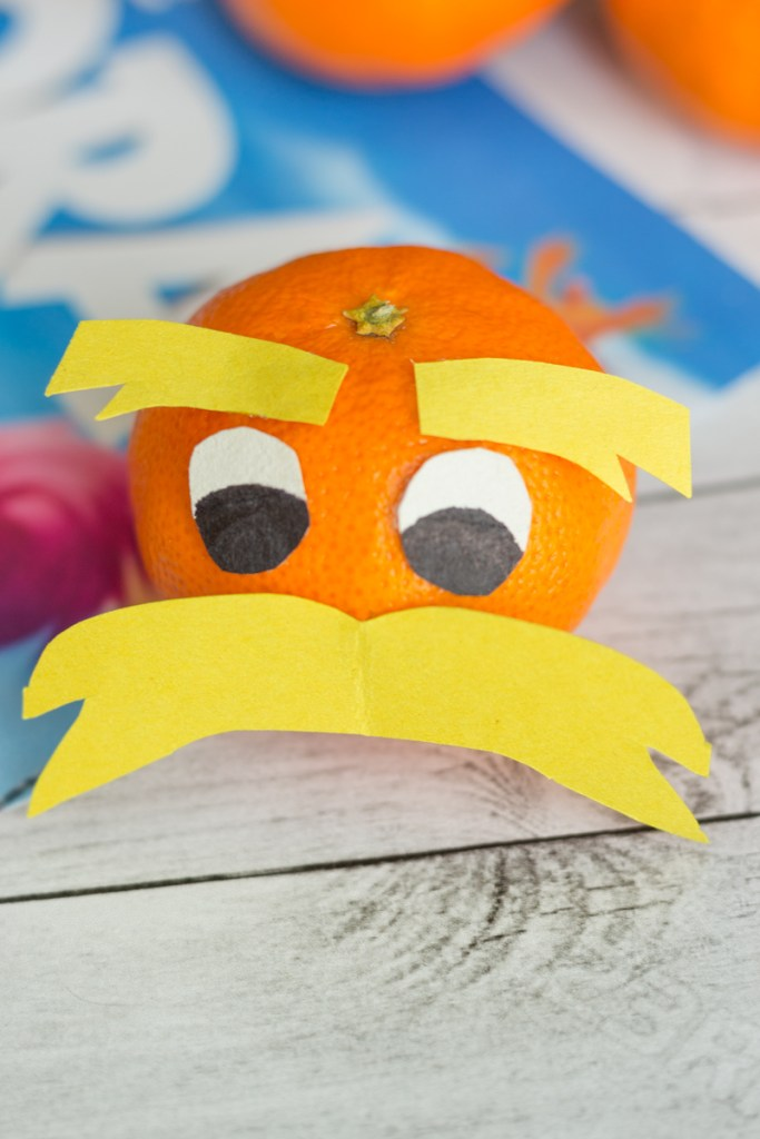 The Lorax Oranges for Dr. Seuss snacks.