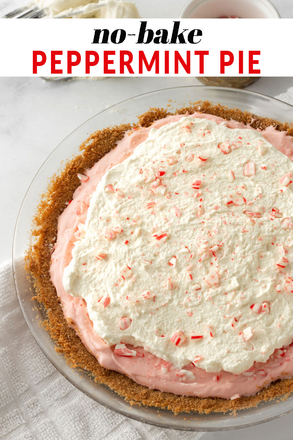 No-bake Peppermint Pie Pinterest pin.