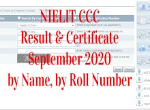 nielit ccc result september 2020 by name from student.nielit.gov.in