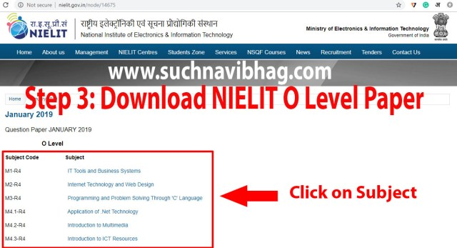 Step 3- Download Nielit O level Paper with Answers of Previous years