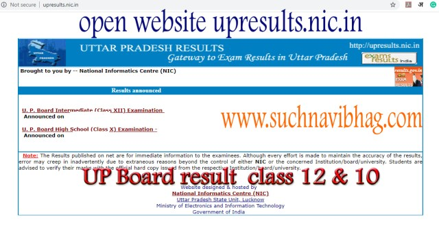 Open UP Board result 2021 High school of intermediate (class 10 and class 12)