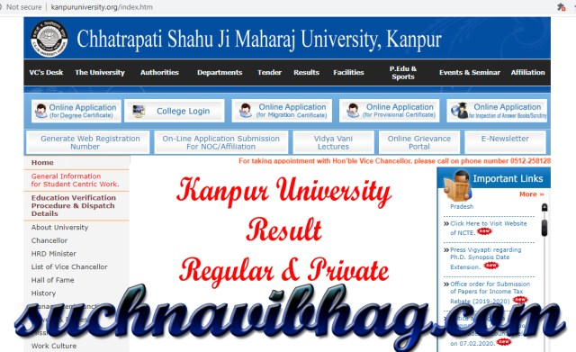 Step 1 - Kanpur University Result 2021 Ba, Bsc, Bcom, Ma, Msc, Mcom CSJM Regular & Private. Result dates also available.