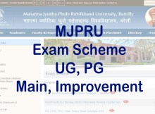 MJPRU Exam Scheme 2020-21 Download Admit Card (Main, Improvement)