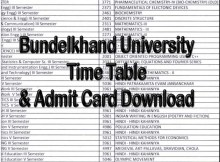 Bundelkhand University Jhansi Time Table 2021 Exam Scheme bujhansi.ac.in