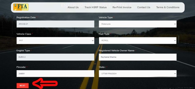 Step 7 UP High Security Number Plate Online Apply, Price, Last Date, Track Status