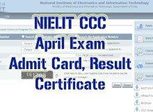 nielit ccc april 2021 admit card result certificate
