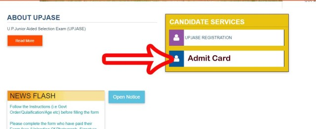 UP Junior Aided Selection Exam Admit Card 2021 UPJASE updeled.gov.in