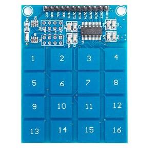 Teclado 4X4 Por Sensor Táctil De Interruptor Capacitivo Digital T4X4T