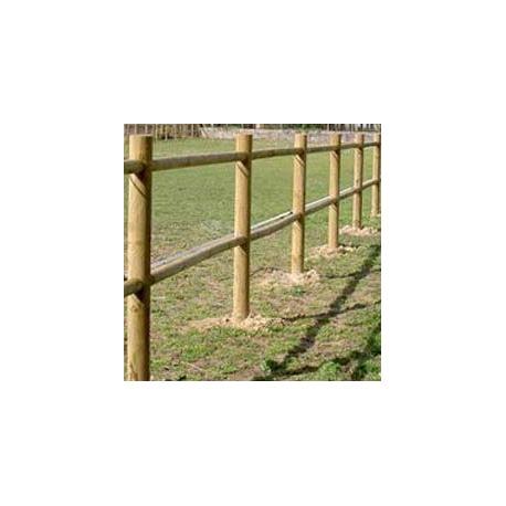 cloture bois 2 lisses pin autoclave classe 4 l 2m h 2m prix au ml sud bois terrasse bois direct scierie
