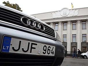 В Украине насчитали 58 тысяч незаконных машин на «евробляхах»