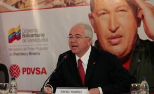 Rafael Ramírez cuando estaba al frente de PDVSA