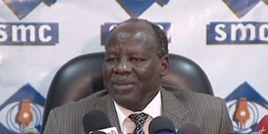 Leader of the National Democratic Movement (NDM) and Secretary-General of South Sudan Opposition Alliance (SSOA) Dr. Lam Akol Ajawin is asking for appointment of his nominee as governor of Jonglei state (Photo credit: via Radio Tamazuj)