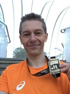Piotr Bulacz after running the Valencia Half Marathon