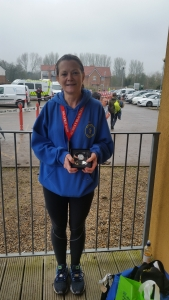 Dee St Ledger - First in her age group - Bungay Marathon 2018