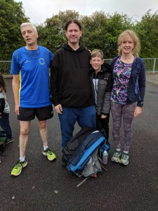 Roger One Mile Time Trail - Cliff Manning, Steve Roberts, Charlie Roberts and Ruth Cowlin