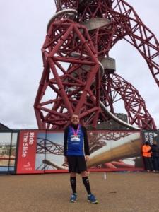 Jeremy Holt after the Olympic Park Half Marathon