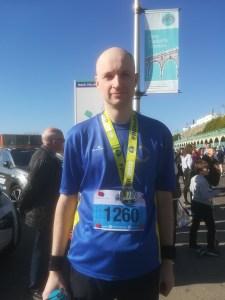 Anthony Harris after the Brighton Half Marathon