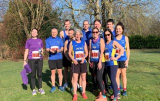 Fern Powell, Gary Godfrey, Jamie Fittock, Richard Smith, Jacqueline Hann, Kieran Hayles, Jenny Merry, Steve Roberts, Lisa Dove, Charles Hann and Lucy Cowlin before the Tarpley 20 race.