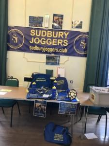 Sudbury Joggers' Sudbury on Show stall
