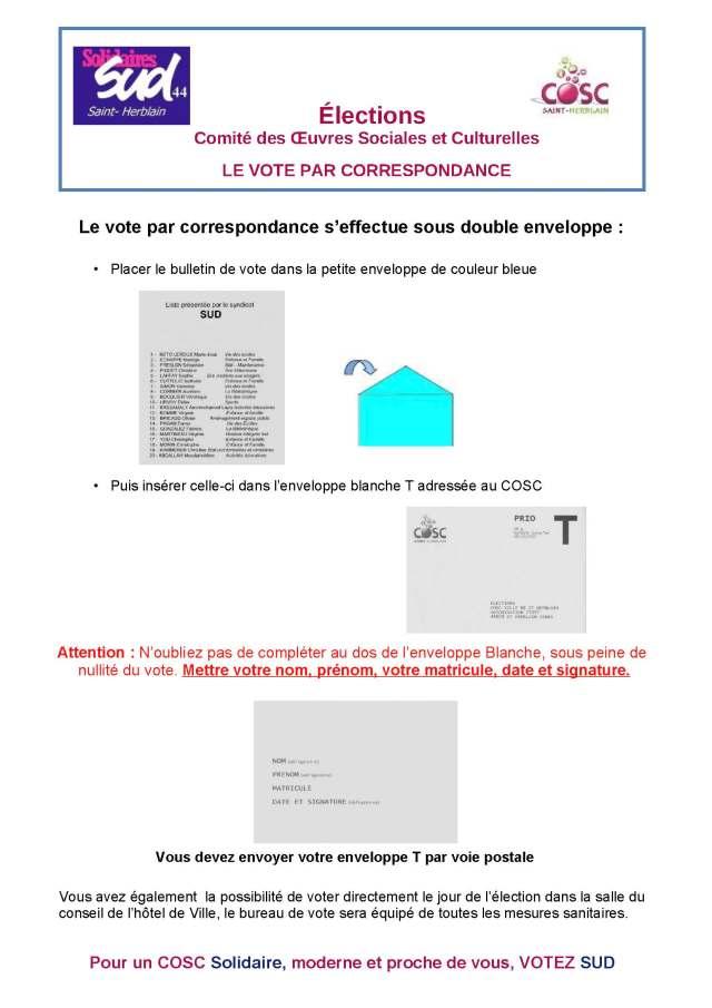 Le vote par correspondance au COSC de Saint-Herblain