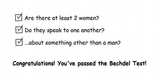 Bechdel Test check boxes