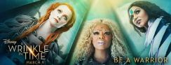Closeup of Reese Witherspoon, Oprah Winfrey, and Mindy Kaling in character from A Wrinkle In Time.