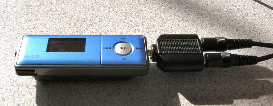 MP3 player with adapter for two Direct Connect cables
