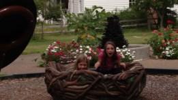 Girls in nest