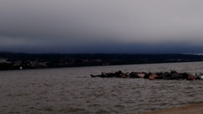 Lake Superior with storm