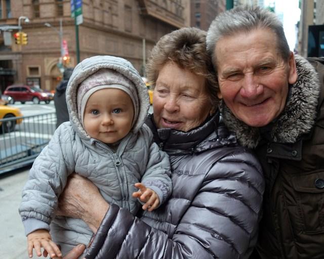 Anastasia with grandparents